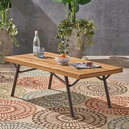 Canoga Outdoor Industrial Coffee Table by CKH