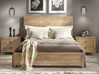 Grain Wood Furniture Montauk Solid Wood Panel Bed   King  BOX 2 OF 2