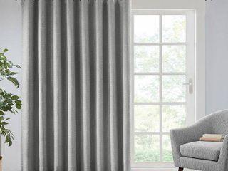 SunSmart Arlie Printed Heathered Blackout Patio Single Curtain Panel Set of 2