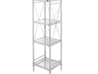 Four Shelf Glass Tower