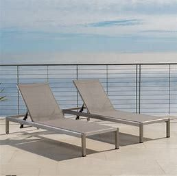 Cape Coral Outdoor Chaise lounge Seating Set of 2