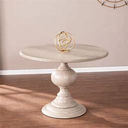 The Gray Barn Brandison Traditional Round Wood Dining Table  INCOMPlETE ITEM