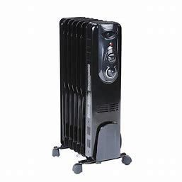 OmniHeat 1500W Oil Filled Radiant Flat Panel Electric Space Heater