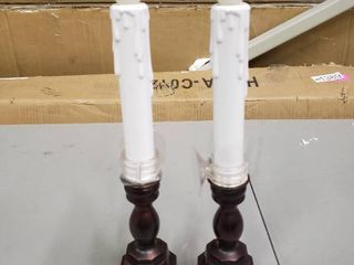 Fake Candles w  2 light Settings  amp  Suction Cup Capability Set of 2