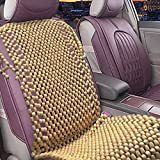 Zone Tech Natural Wood orange Beaded Seat Cushion