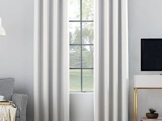 108 x52  Oslo Theater Grade Extreme Blackout Grommet Top Curtain Panels White   Sun Zero