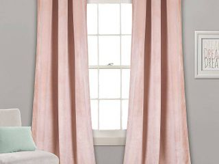 Prima Velvet 38  x 84  Curtain Set pink