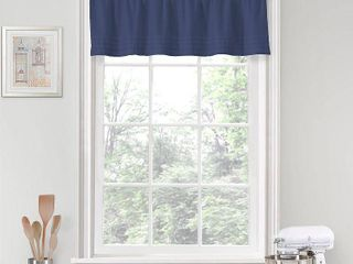 14 x52  Kingsbury Rod Pocket Window Valance Indigo   Vue 4pkgs