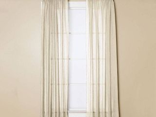 Miller Curtains Preston 63 inch Rod Pocket Sheer Curtain Panels 52 x 63   52 x 63