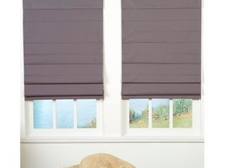 Taylor   Olive Halfway Grey Insulating Cordless Roman Shade  Retail 86 99