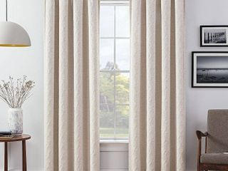 Set of 2  84 x52  lollie Blackout Window Curtain Panels Off White   Eclipse