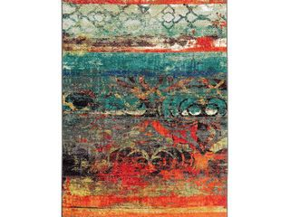 Teal Orange 1 8  x 2 10  Scatter  Mohawk Home Eroded Color Area Rug