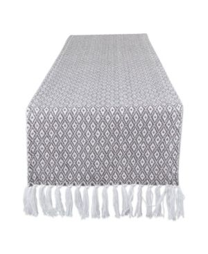 15x72   Grey   Patterned  DII Braided Table Runner