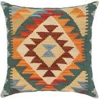 Rustic Jovan Hand Woven Turkish Kilim throw pillow