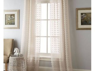 Nanshing Payton Solid Grommet Top  Curtain Panel Pair