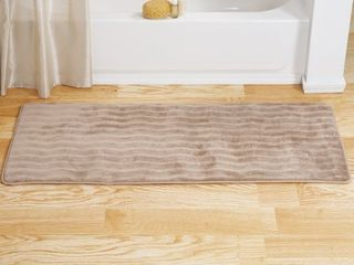 Windsor Home Memory Foam Extra long Bath Rug Mat   Taupe