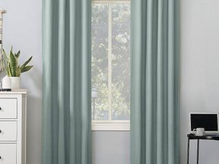 Sun Zero Cyrus Thermal Total Blackout Back Tab Curtain Panels