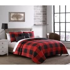 Red and Black Plaid 4 piece Sheet Set twin