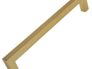 GlideRite 6 1 4 in  Center Gold Solid Square Bar Pulls  10 Pack    Brass Gold