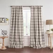 The Gray Barn Holly Buffalo Check Blackout Window Curtains