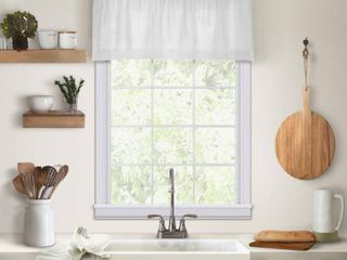 Elrene Cameron linen Kitchen Window Valance 2pkgs