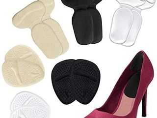 Heel Grips  High Heel Cushion Inserts for Too Big Shoes  Reusable Anti Slip Shoe Pads Foot Insoles and Metatarsal Pads for Women  Heel Blister Prevention