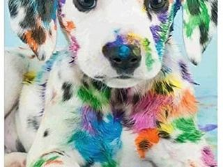 DIY 5D Diamond Painting Kit  Full Drill Colored Puppy Crystal Rhinestone Embroidery Pictures Arts Craft for Home Wall Decor