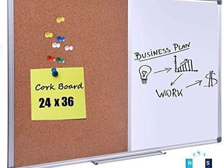 DexBoard 36 x 24 Inch Cork  Dry Erase Combo Board