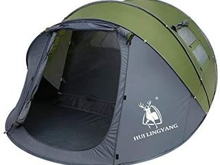 6 Person Easy Pop Up Tent 12 5aX8 5aX53 5 Automatic Setup Waterproof  Double layer Instant Family Tent
