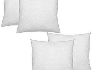 IZO All Supply Set of 4  16x16 Pillow Insert   Sham Stuffer Decorative Throw Pillow Inserts