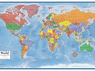 48x78 World Classic Premier Wall Map Mega Poster
