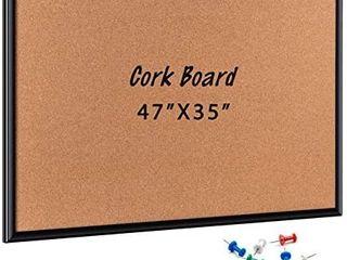 ORIENTOOlS 47 x 35 Inch Cork Board  Bulletin Board with Black Frame