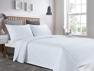 3 Piece Quilt Set Oversized Queen 100x106  Reversible lightweight Bedspread Coverlet Summer Comforter Set  Oversized Queen  Soft Green
