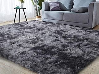 Shag Ultra Soft Area Rug  Non Skid Fluffy 4 X6  light Grey Fuzzy Indoor large Faux Fur Rugs for living Room Bedroom Nursery Decor Furry Carpet Kids Playroom