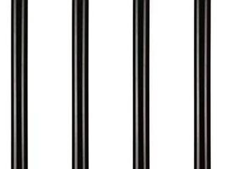 28 inch Adjustable Metal Desk legs  Office Table Furniture leg Set  Set of 4  Black