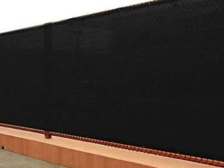 UPGRADE Fence Privacy Screen 6  x 50  Fence Shade Cover with Brass Grommets Heavy Duty Perfect for Outdoor Back Yard   Black