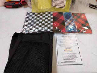 Tommy Shop Dog Bandanas and Waste Bag dispenser
