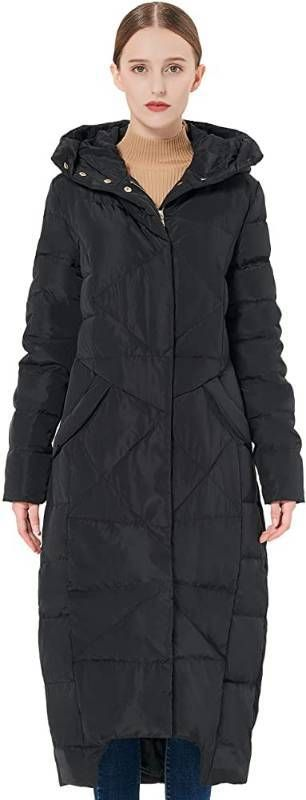Orolay Women s Puffer Down Coat Winter Maxi Jacket with Hood
