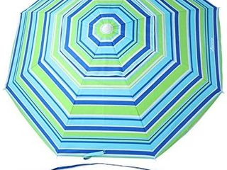 Movtotop Beach Umbrella Uv 50  6 5ft Umbrella With Sand Anchor   Tilt Aluminu