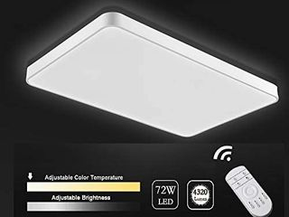 Viugreum lED Flush Mount Ceiling light  Dimmable 72W 4320 lumens Square Panel light with Remote Control  Color Temperature Changeable Downlights lighting Fixture for Kitchen Hallway Bathroom Stairwell