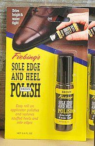 Fiebings Sole Edge And Heel Polish Brown 18ml Restores Scuffed Heels   Sole Edge