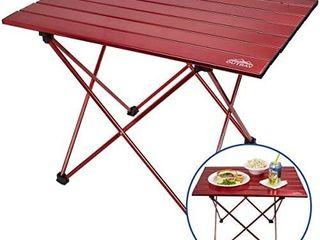 Portable Picnic Table  Aluminum Frame  Roll Up Aluminum Table Top  lightweight