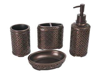 YangShiMoeed 4 Piece Orbs Bathroom Accessories Set