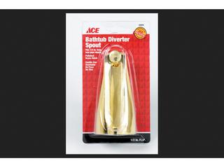 Ace Bathtub Diverter Spout Polished Brass Finish