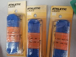 Athletic lace Flat 63  Blue Set of 3