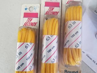 Athletic laces Round 63  Yellow Set of 3
