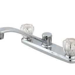 plastic two handle kitchen faucet