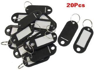 20 Pcs Key ID label Tags Split Ring Keyring Keychain Green