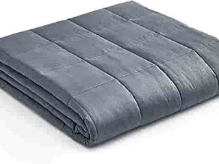 YnM Weighted Blanket a Heavy 100  Oeko Tex Certified Cotton Material with Premium Glass Beads Dark Grey  60 x80  20lbs