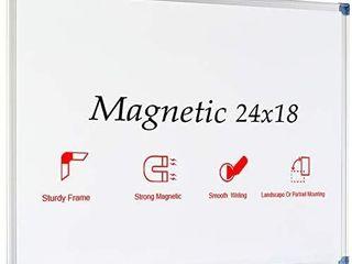 JIloffice Magnetic Dry Erase Board  White Board 24 x 18 Inch